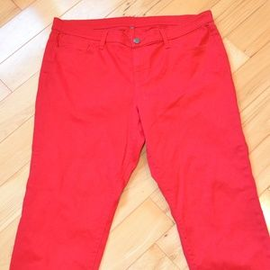 Gap jeans 34 18  red cropped ankle women